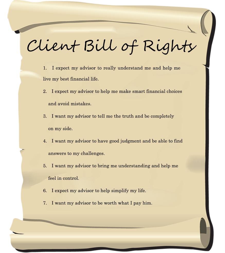 Client bill of rights b h wealth strategies for How to bill a client