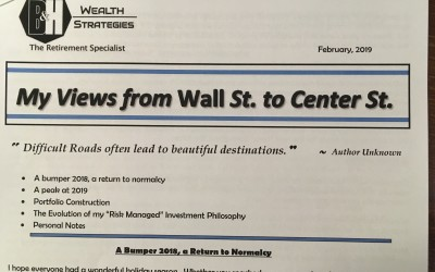My Views from Wall St. to Center St. – February 2019